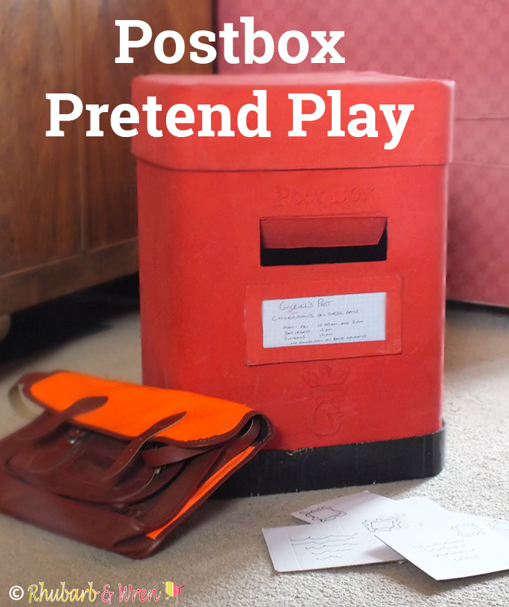 A simple pretend play postbox for kids