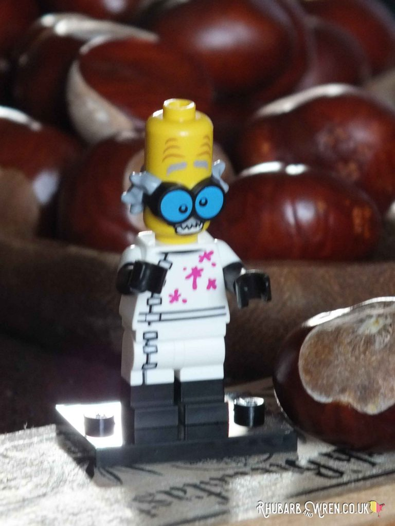 Lego Mad Scientist minifigure and conkers