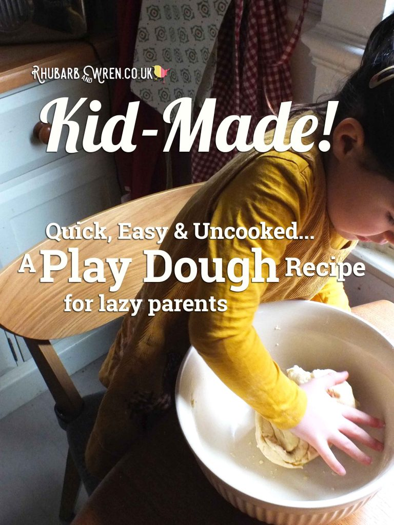 A recipe for kid-made and no-cook play dough