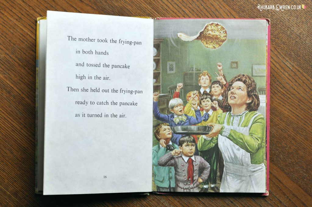 A page in the Ladybird Book 'The Big Pancake'