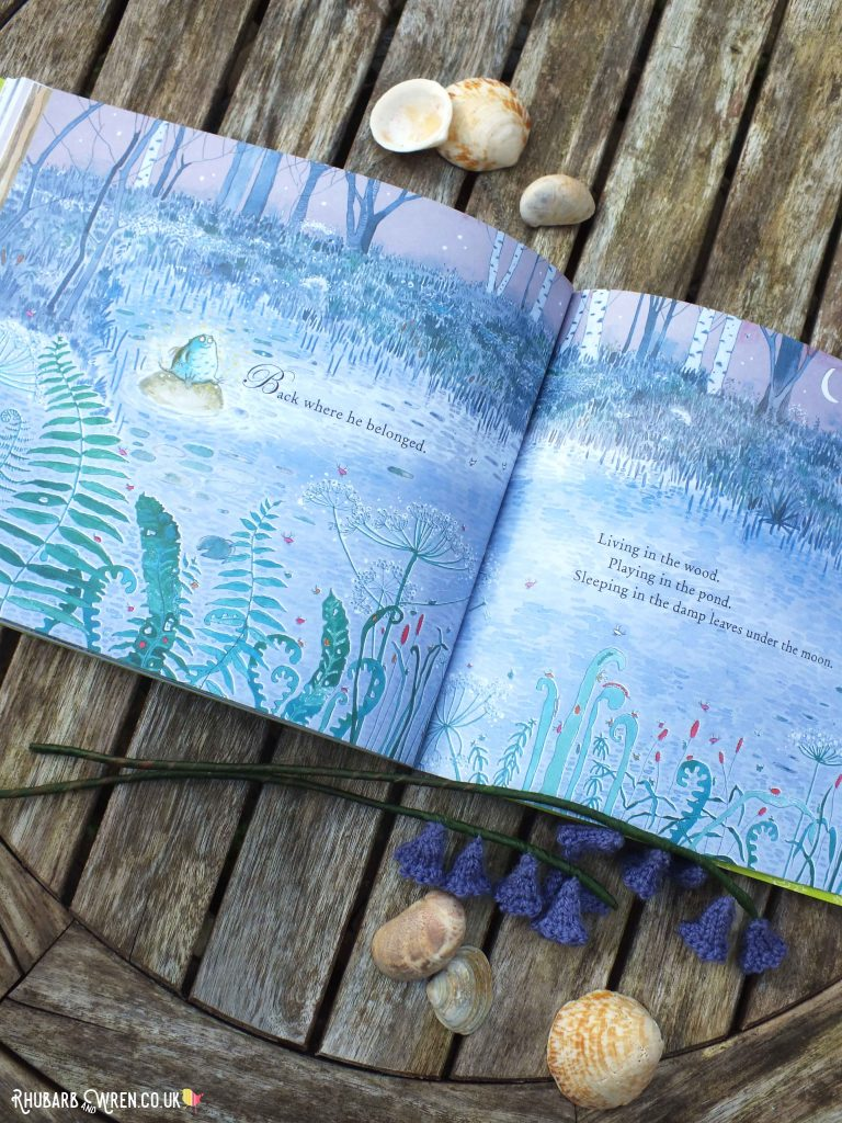 Back in the wild - pages from The Bog Baby by Jeanne Willis and Gwen Millward