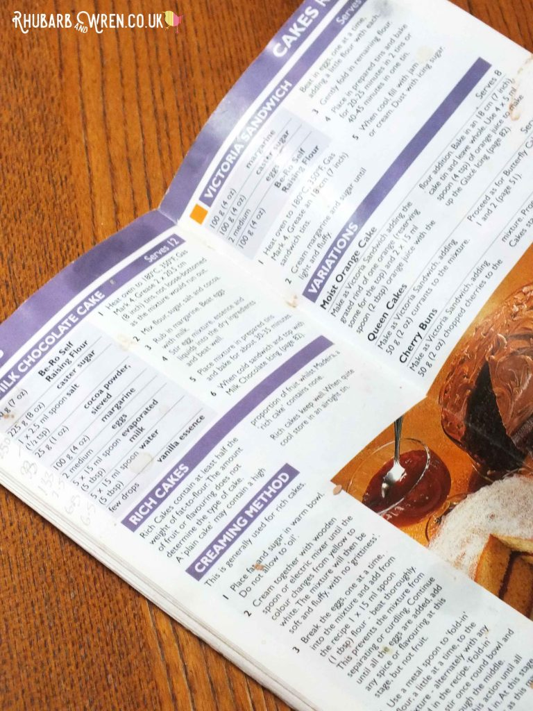 Be-Ro recipe book showing page with milk chocolate cake recipe
