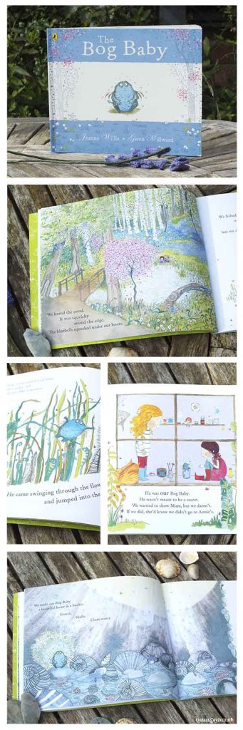 Collage of pages from 'The Bog Baby' by Jeanne Willis and Gwen Millward