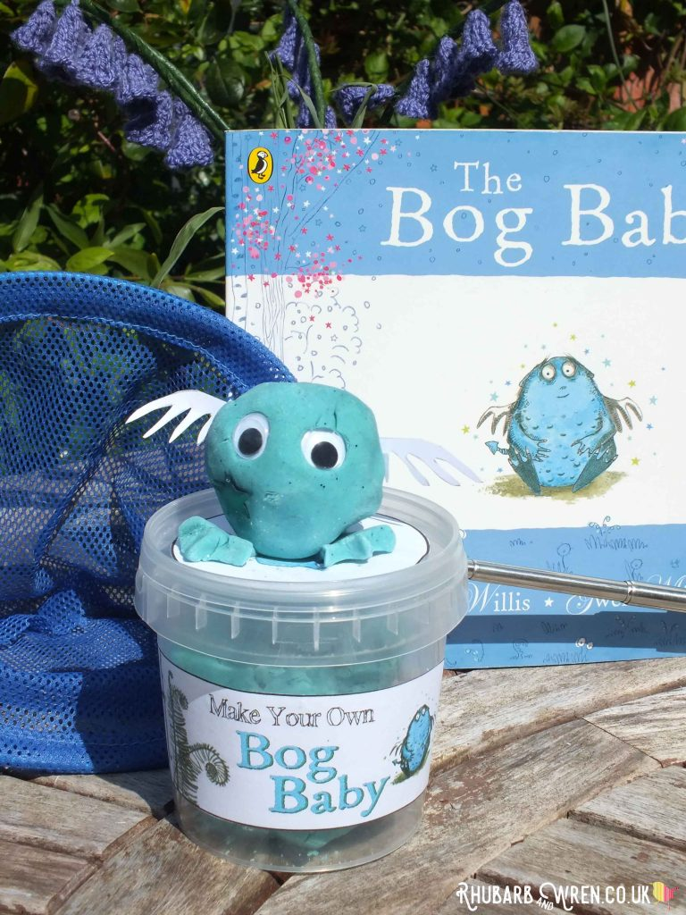 home-made play dough bog baby