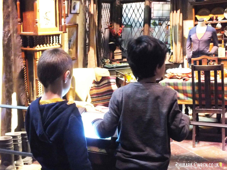 The Burrows set at the Harry Potter studio tour