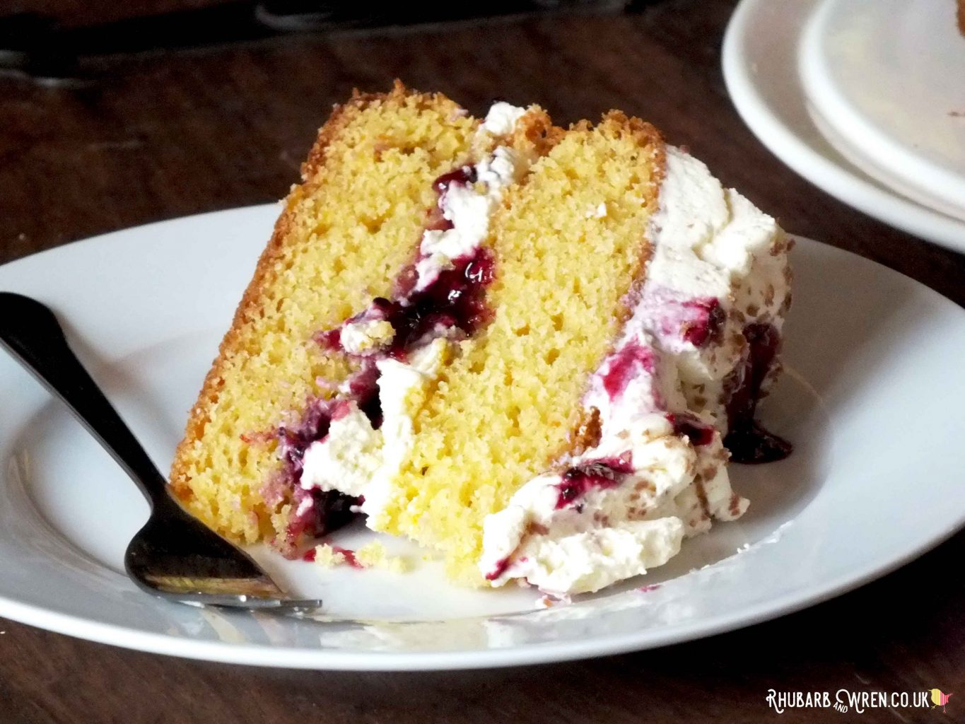 orange and blackcurrant Victoria sandwich