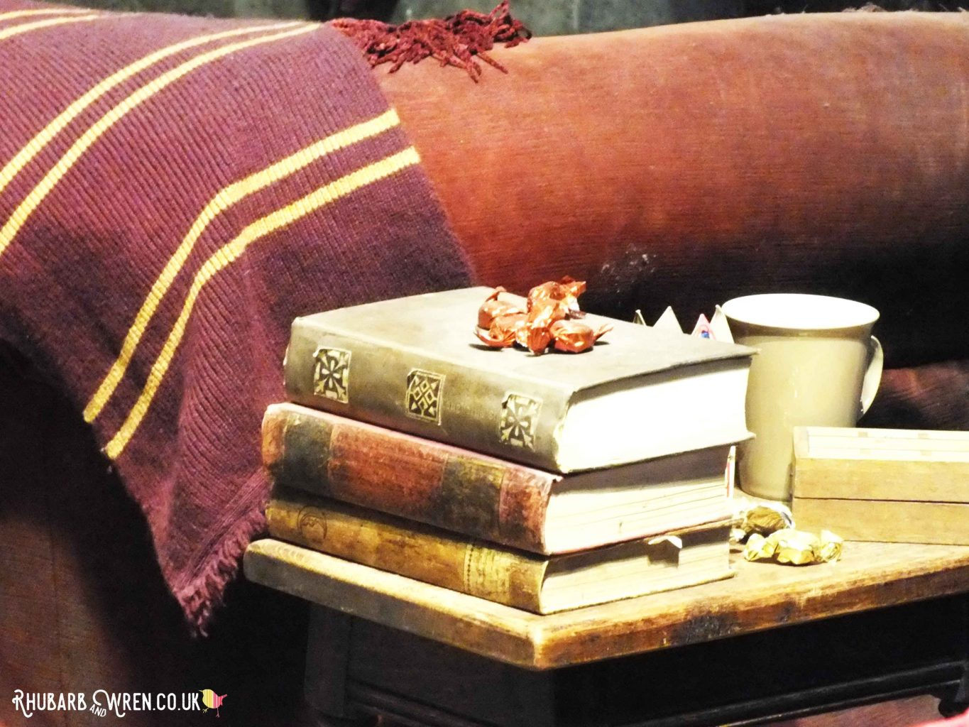 The Gryffindor common room set at the Harry Potter studio tour, UK