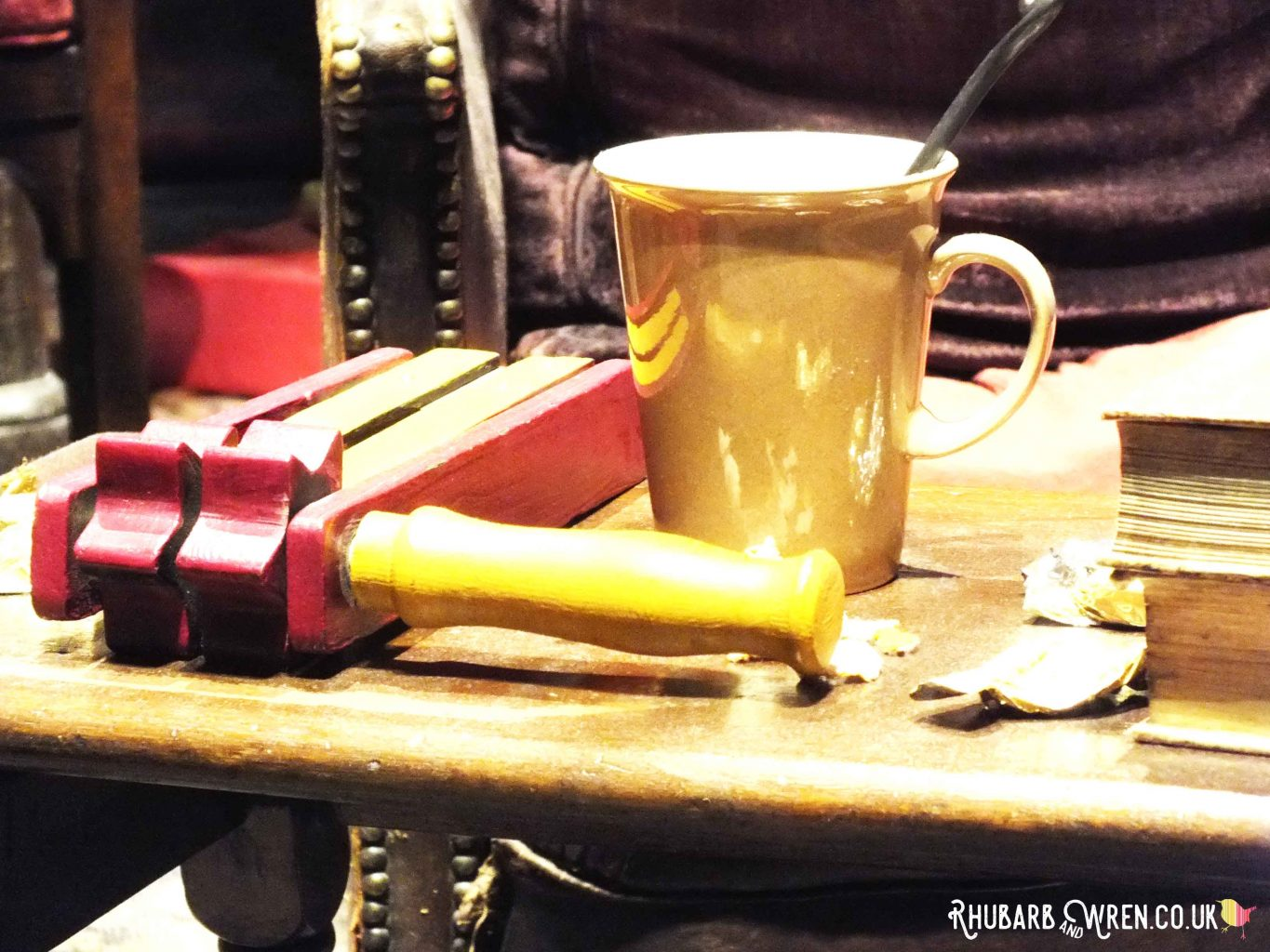 Gryffindor common room set at the Harry Potter studio tour, UK