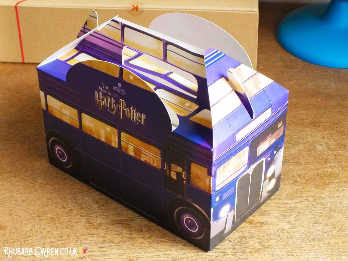 Knight bus kids lunch box at the Harry Potter studio tour