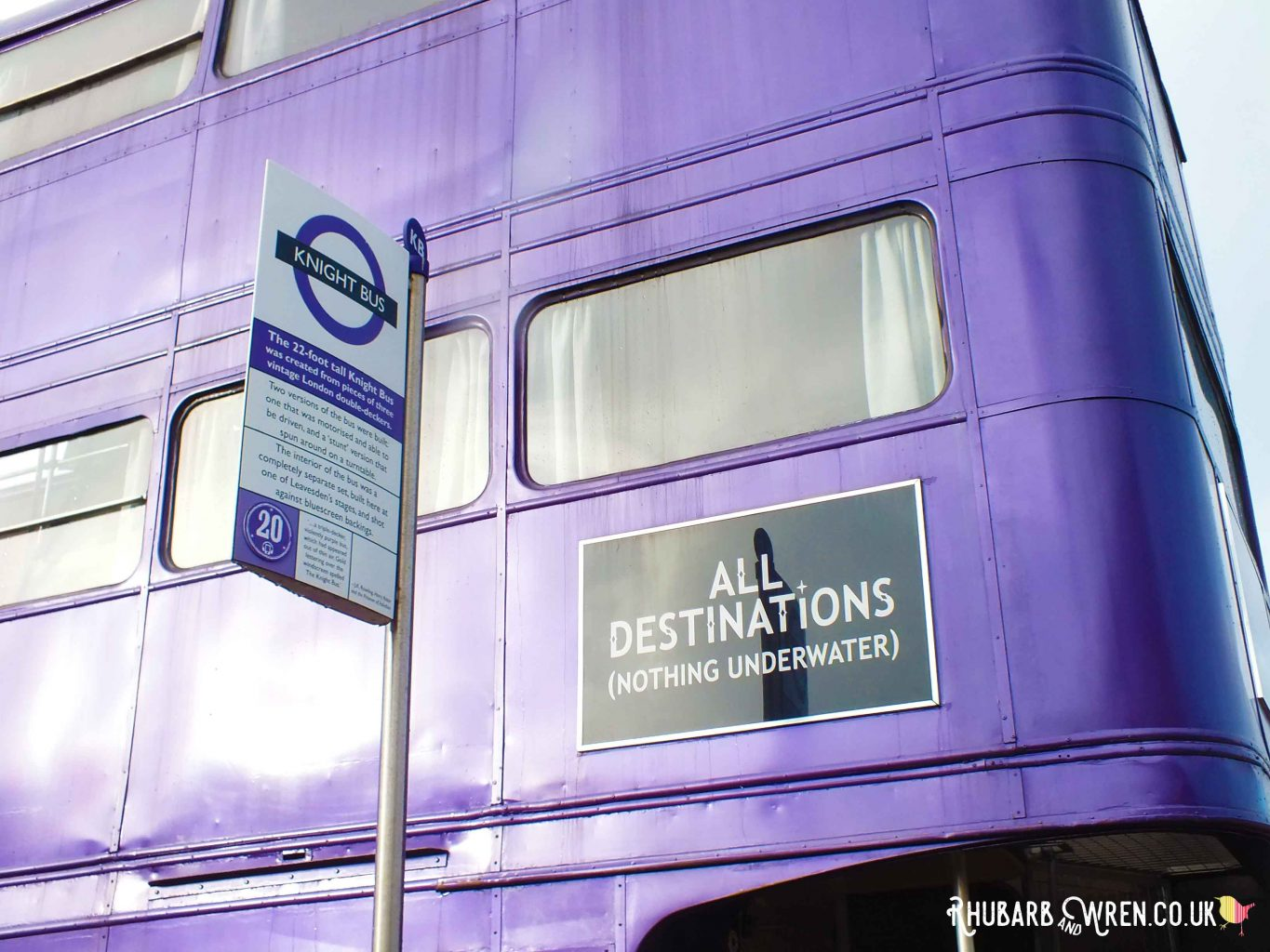 The Knight Bus at the Harry Potter studio tour