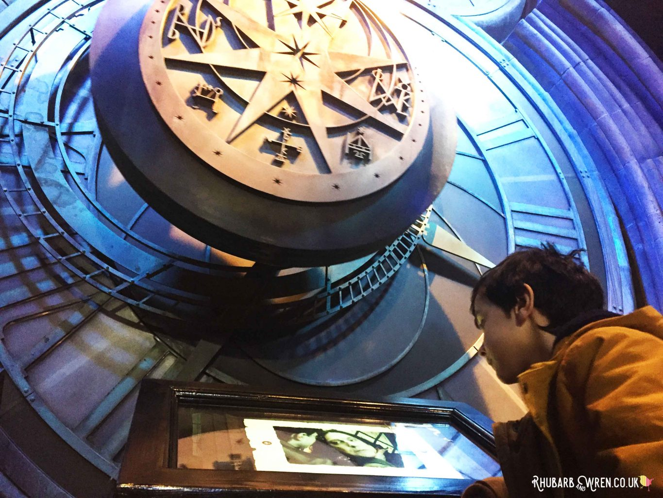 Interactive exhibit at the Harry Potter studio tour