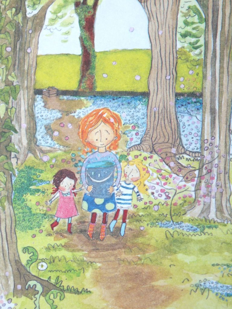 Letting it go - pages from 'The Bog Baby' by Jeanne Willis and Gwen Millward
