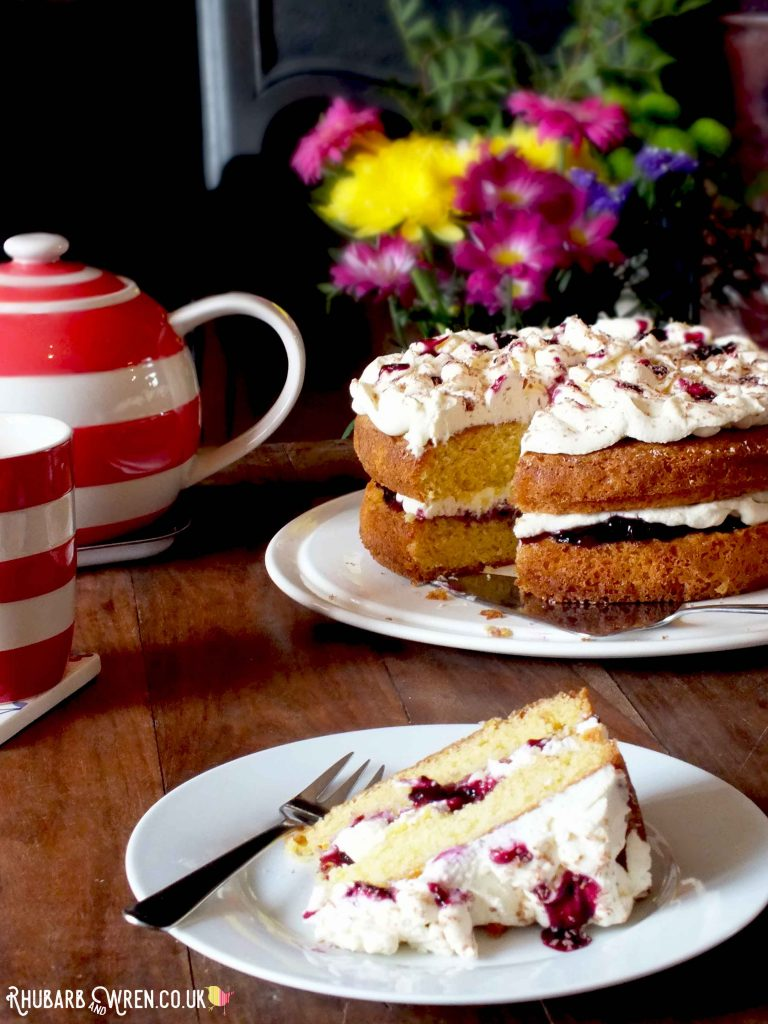 orange and blackcurrant Victoria sandwich recipe