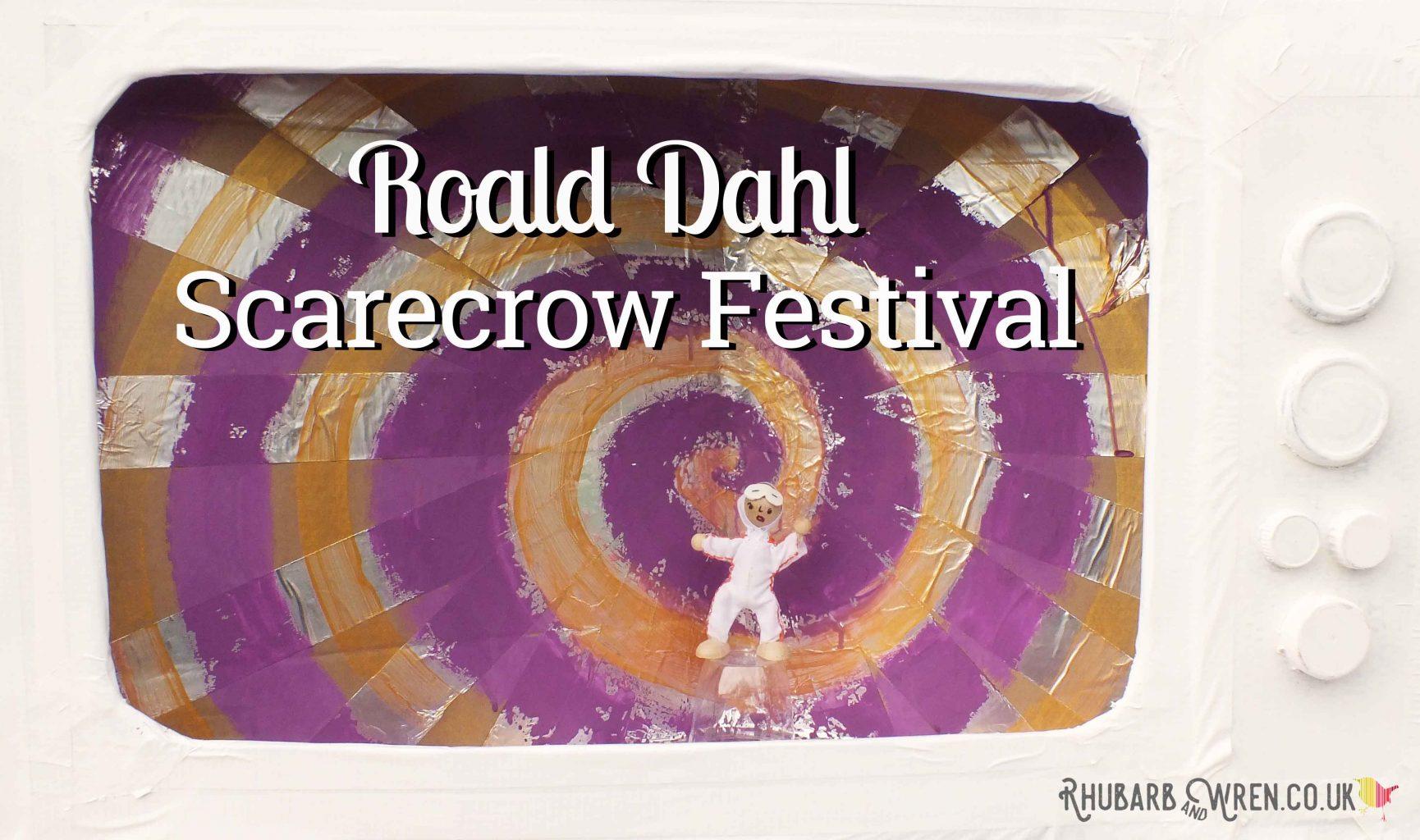 Mike Teavee inside TV set - Roald Dahl scarecrow