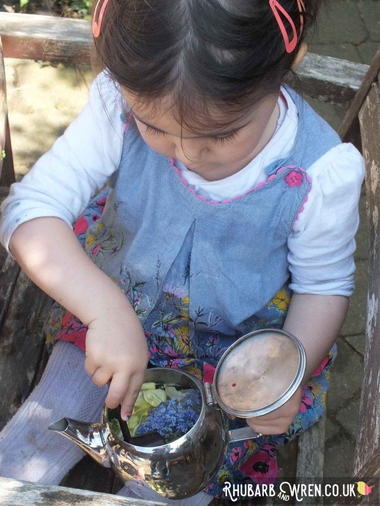 mud kitchen play in the garden