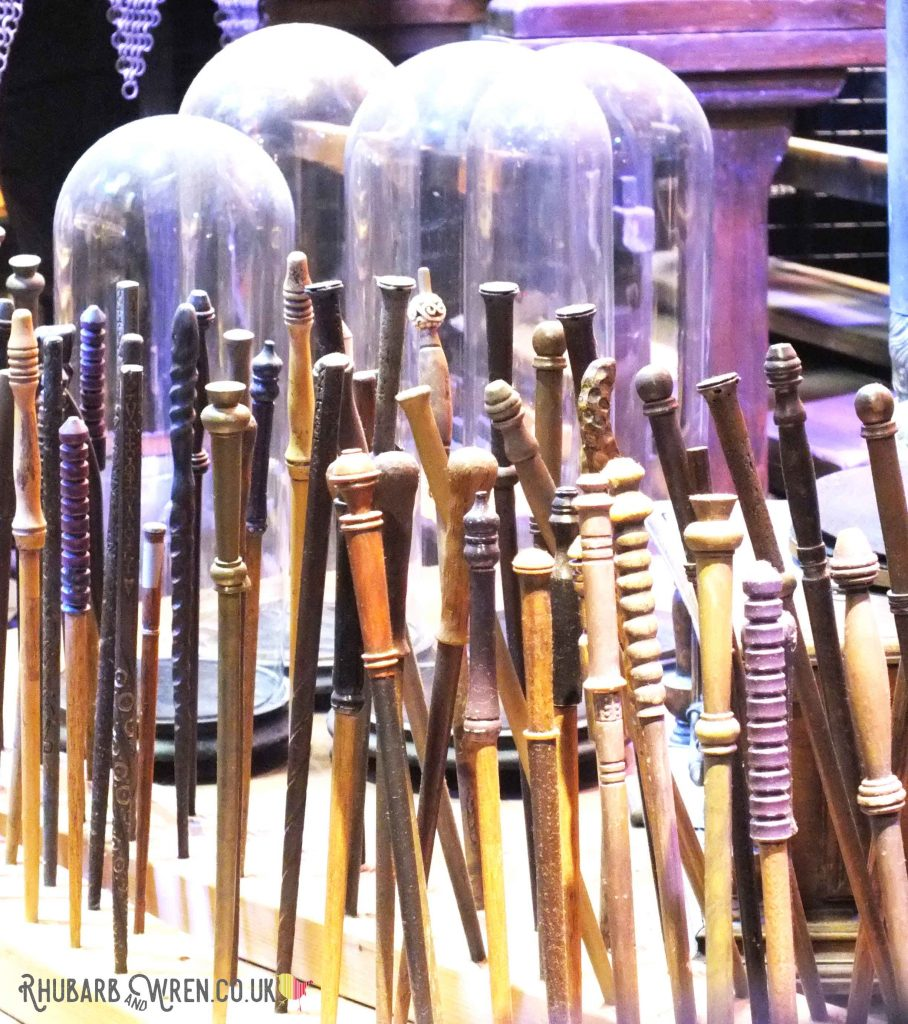 Display of wands at the Harry Potter studio tour