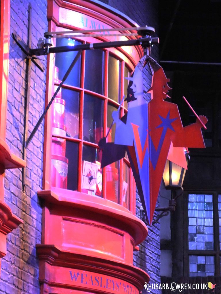 Weasleys' Wizard Wheezes shop at the Harry Potter studio tour