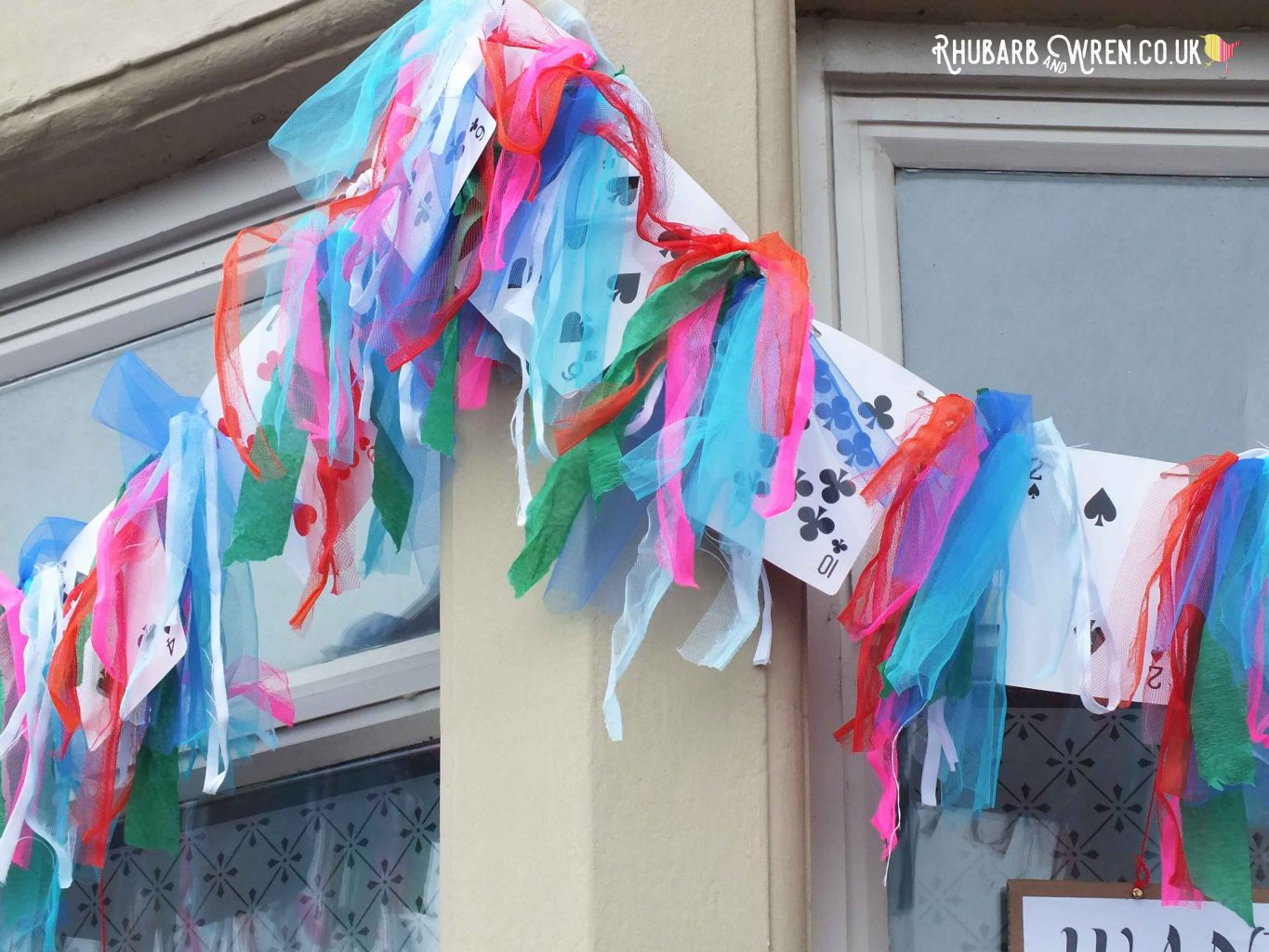 Alice in Wonderland scarecrows - bunting