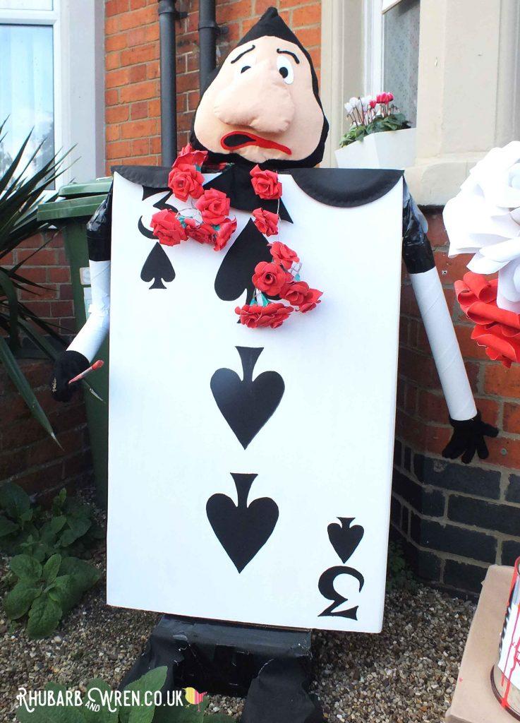 Alice in Wonderland scarecrows - playing card gardener