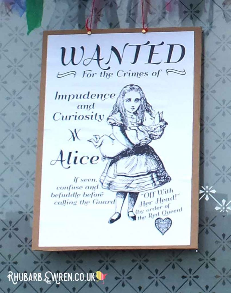 Alice in Wonderland wanted poster