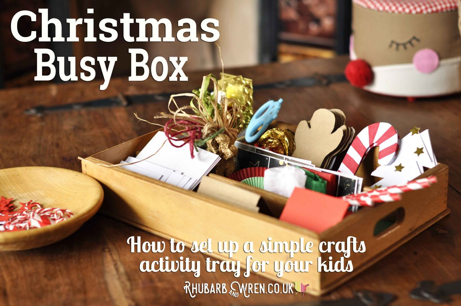 Christmas themed busy box or cutting tray for children