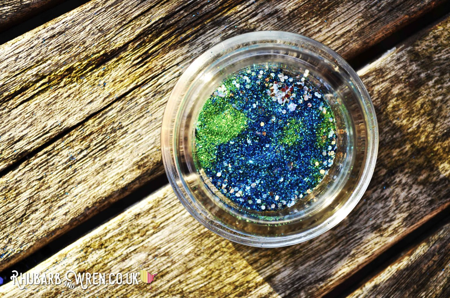 planet earth made from eco glitter