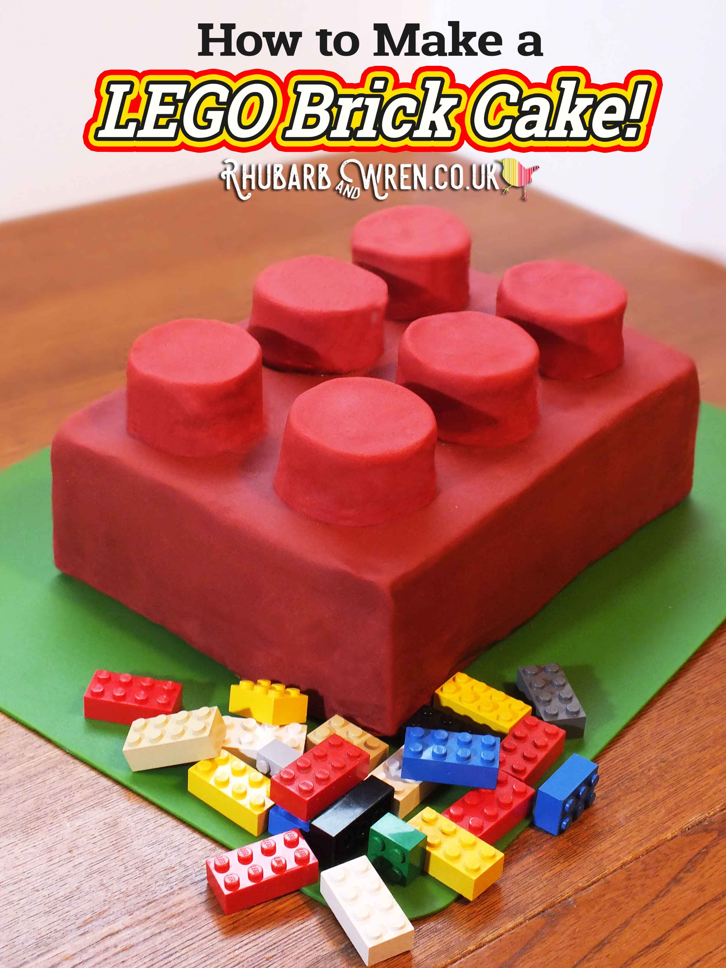 How to make a giant Lego brick cake