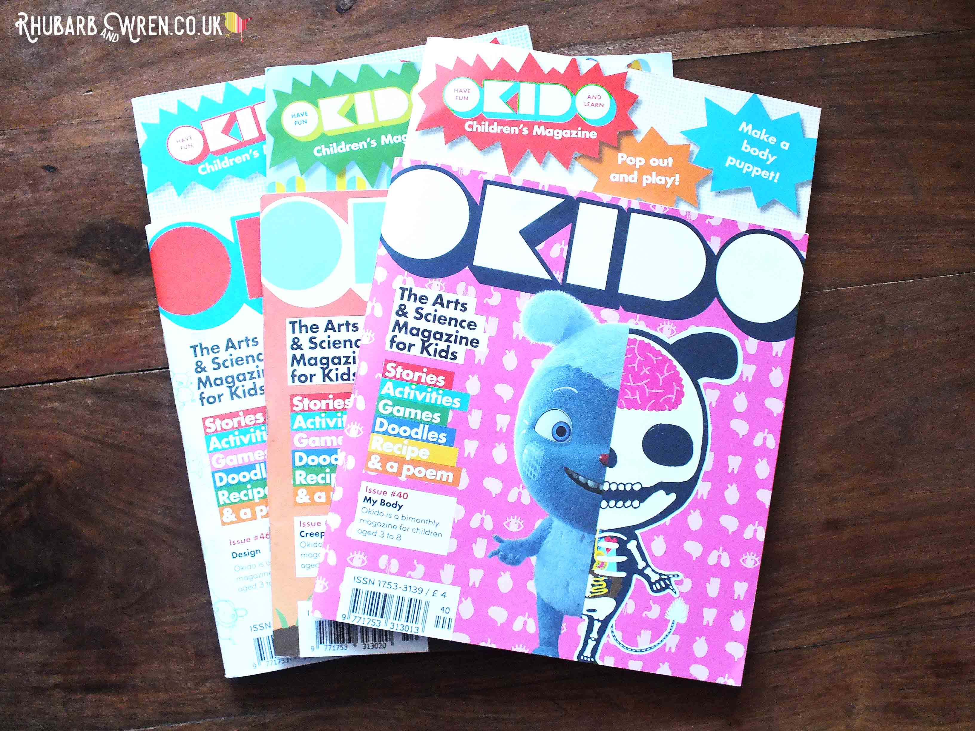 Issues of kids' arts and science magazine - Okido