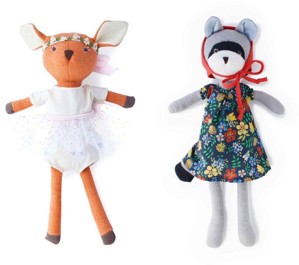 Hazel Village soft toys- Phoebe Fawn and Gwendolyn Raccoon