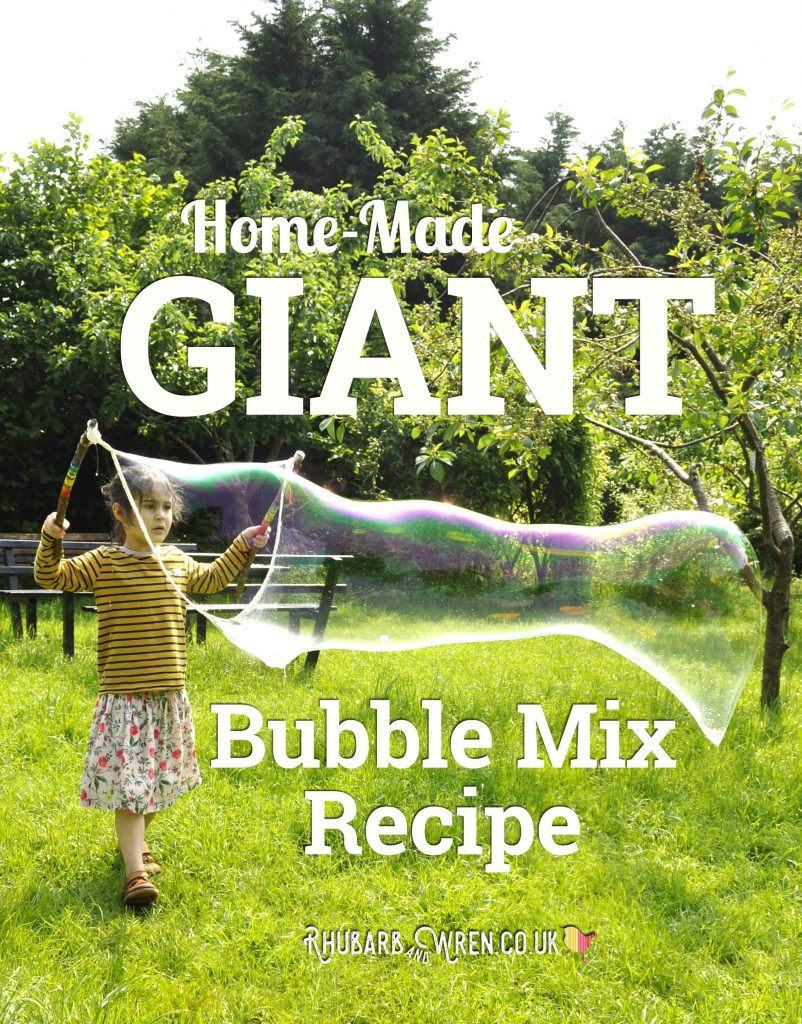 home-made giant bubble mix recipe
