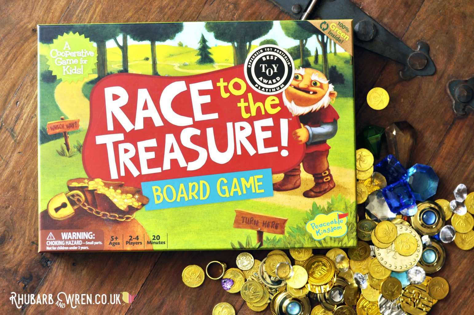 Peaceable Kingdom board game 'Race to the Treasure'