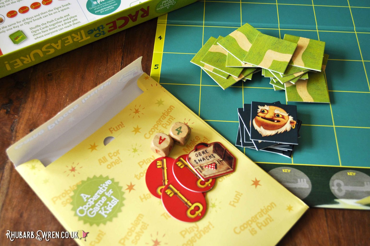 Card pieces from a Peaceable Kingdom board game