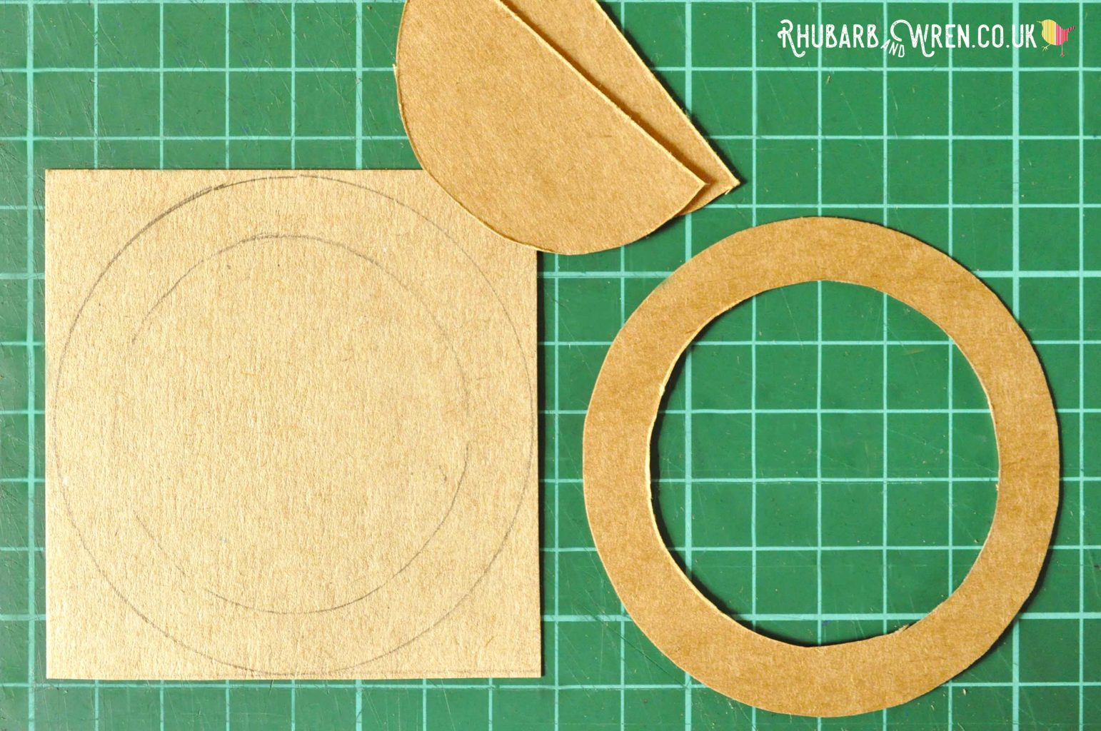 Cardboard for a diy real magnifying glass