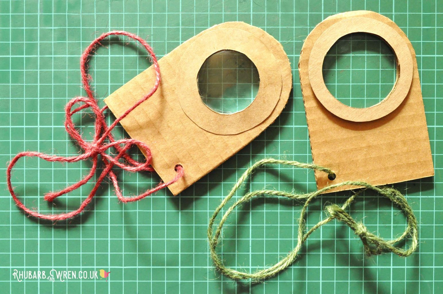 a pair of diy real magnifying glasses