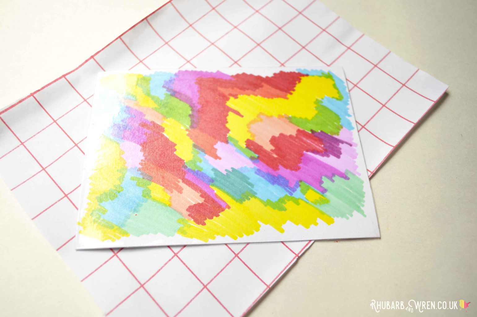materials for diy scratch art cards - sticky back plastic