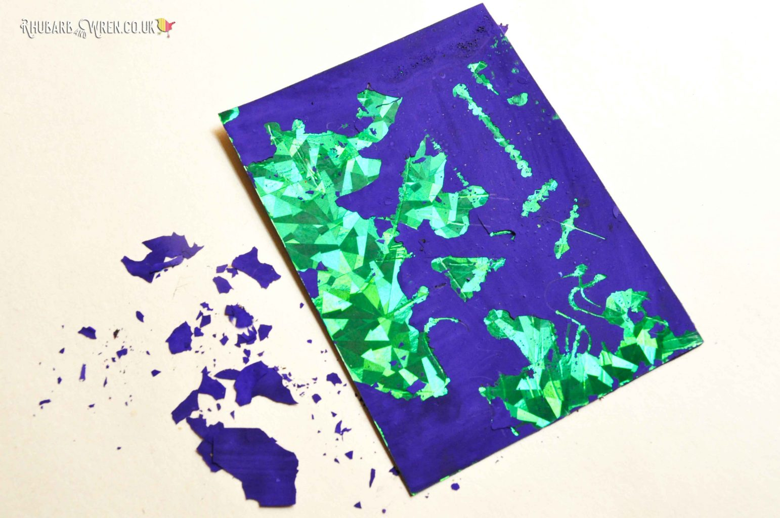 diy scratch art card mistakes to avoid - flaky paint