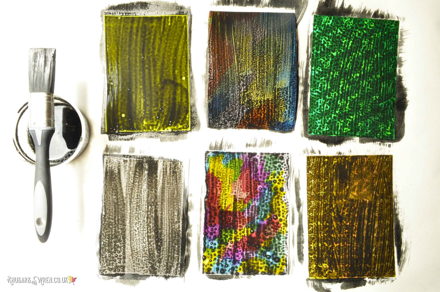 diy scratch art cards painted with first layer of black