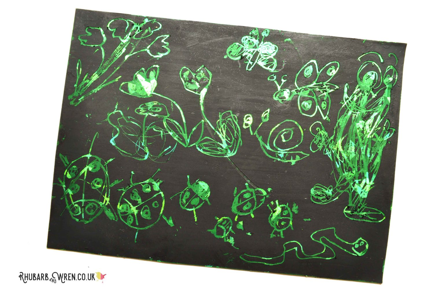diy scratch art board using holographic card