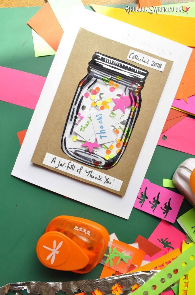 DIY home-made mason jar shaker card