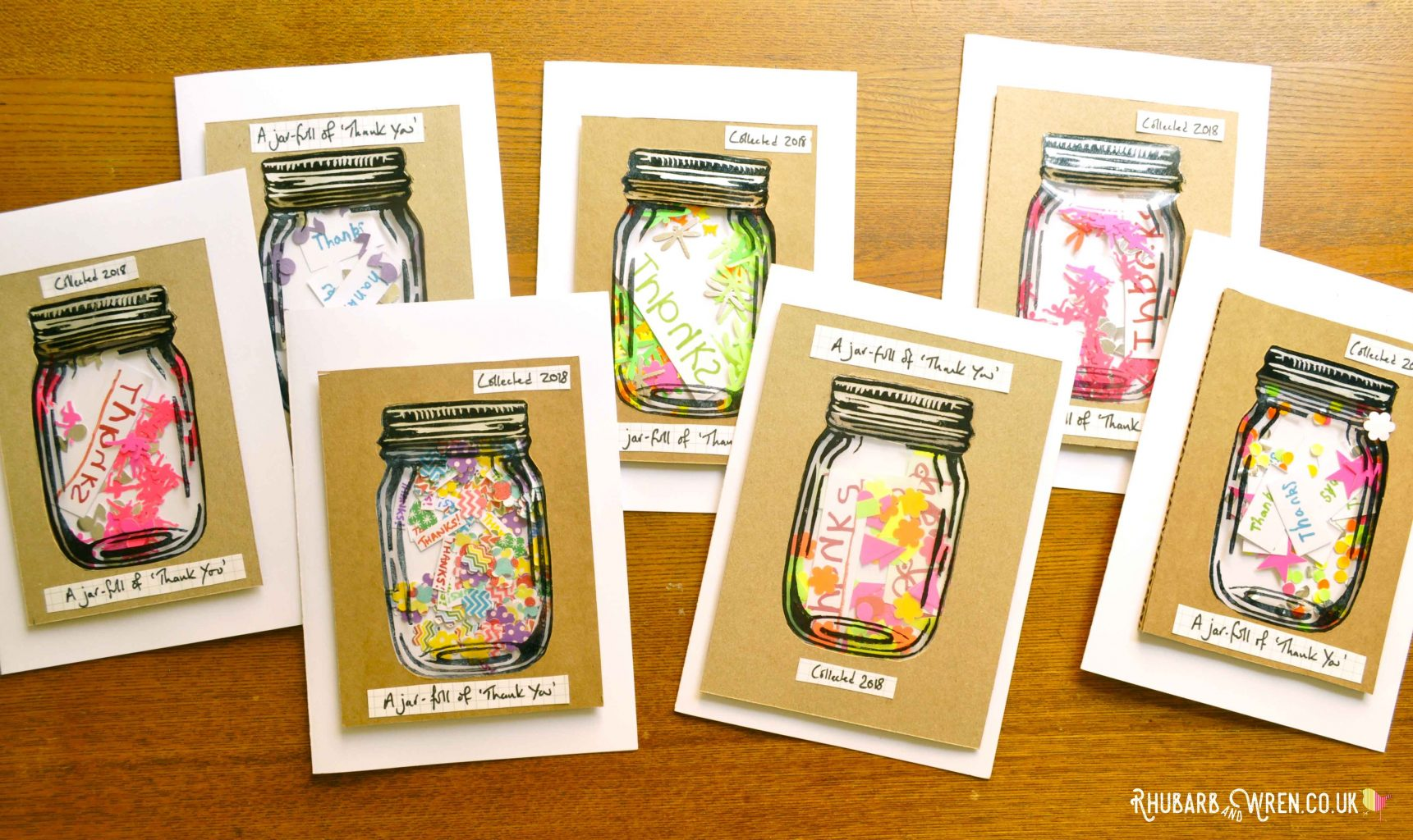 DIY mason jar shaker cards