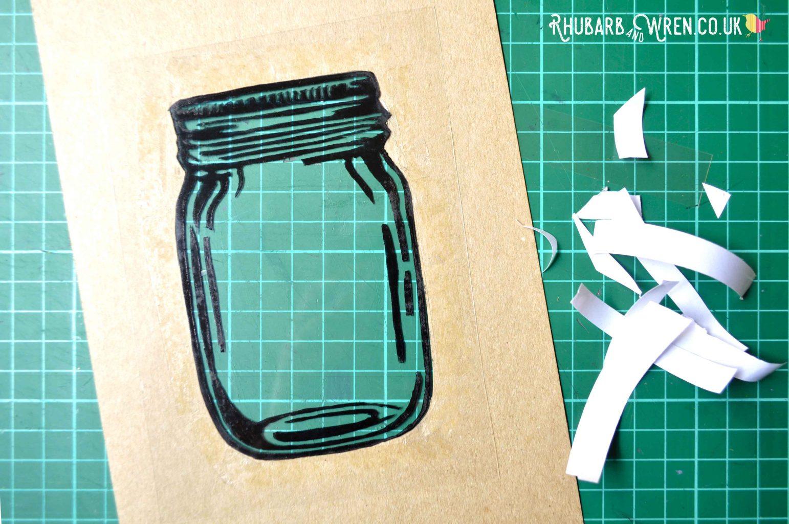 DIY Mason jar shaker card front image