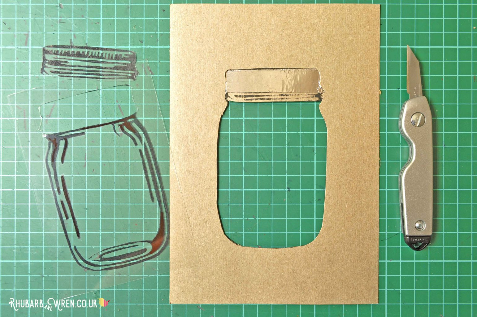 Making a DIY mason jar shaker card.