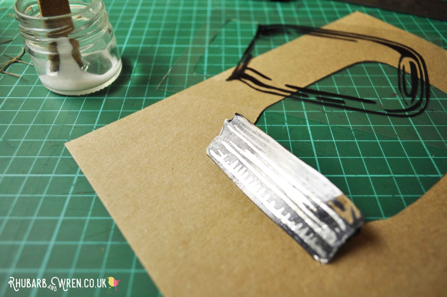 mason jar shaker card being made