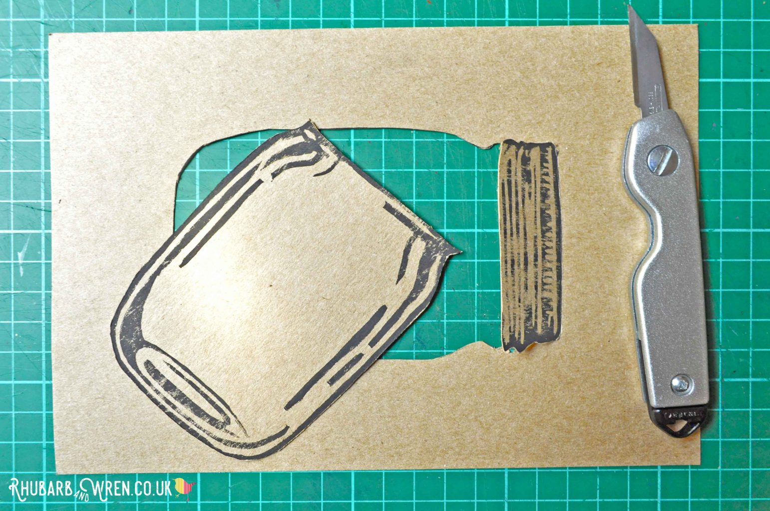 Half way through a home-made mason jar shaker card