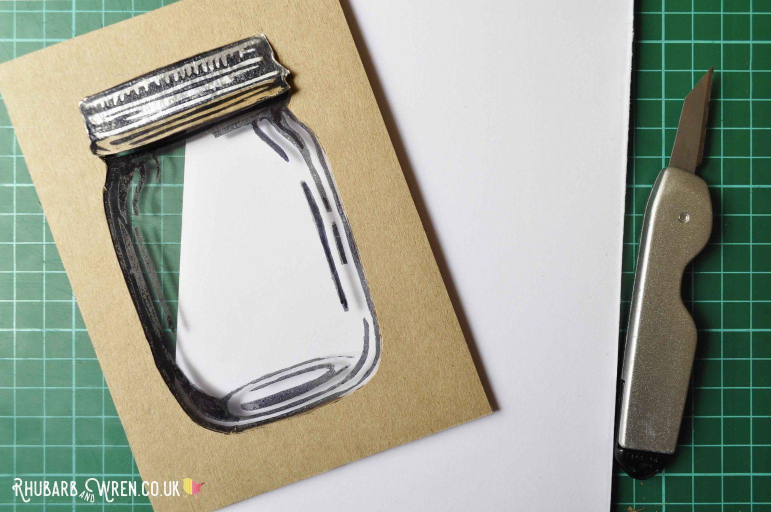 home-made diy mason jar shaker card