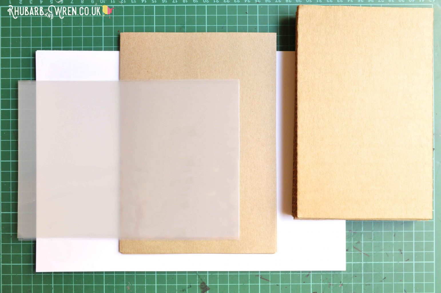 Materials for making a mason jar shaker card.