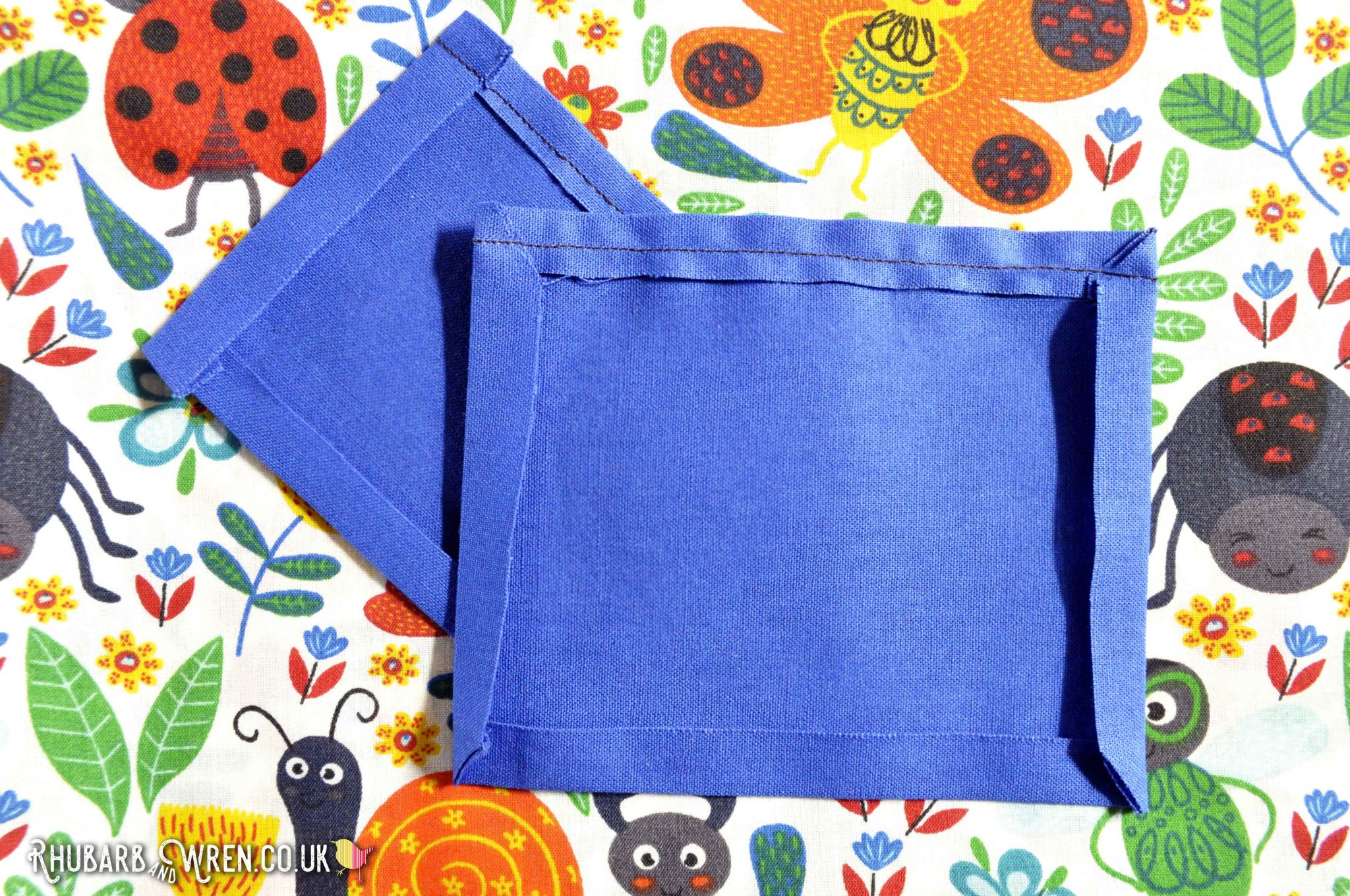 Pockets for a diy kids nature bag sewing project