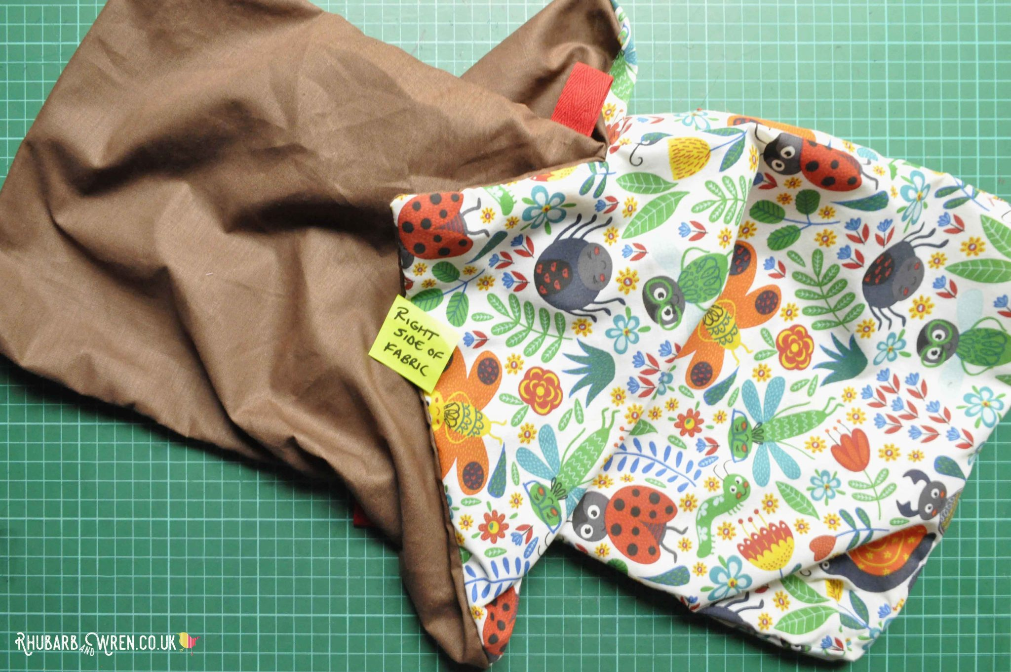 A kids nature explorer bag sewing project