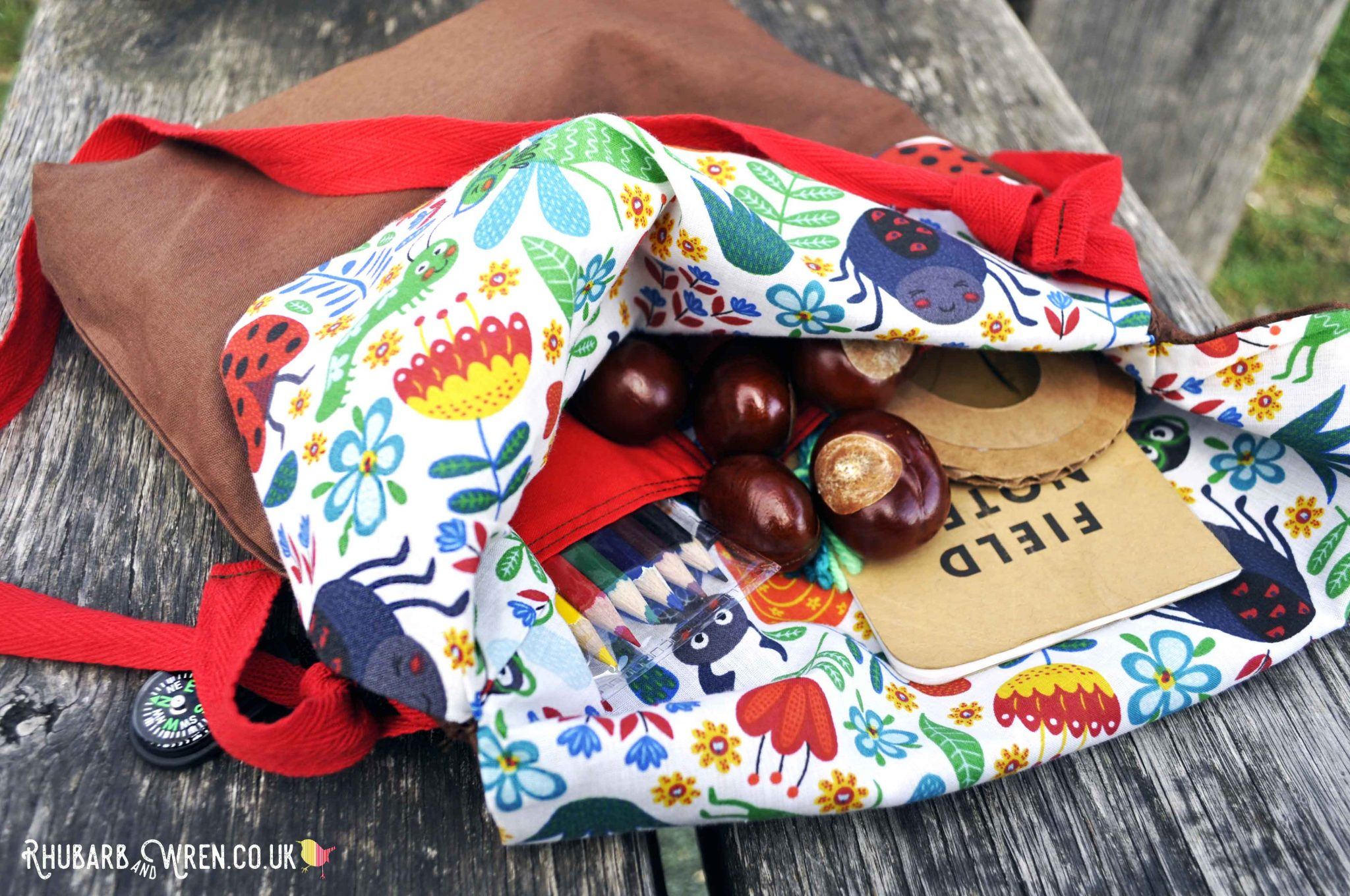 A nature explorer bag for kids - DIY sewing project