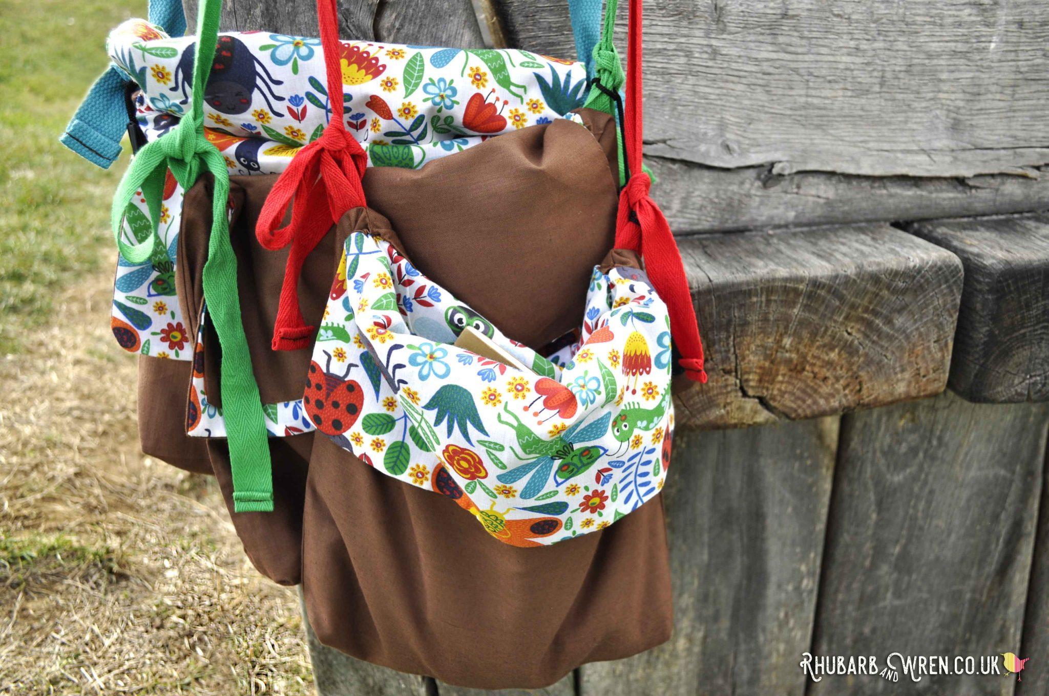 DIY kids nature explorer bags - simple sewing project